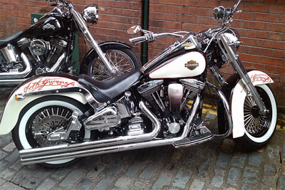 Guinness-themed Harley Davidson bike